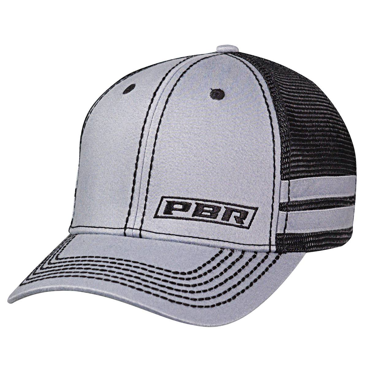 PBR Text Offset Logo Side Stripes Cap - Mens