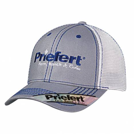 Priefert Center Logo Contrast Stitch Cap - Mens