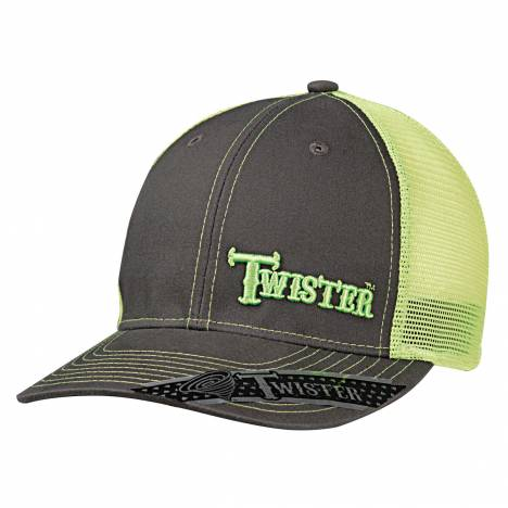Twister Mesh Snapback Off Set Logo Ball Cap -Mens