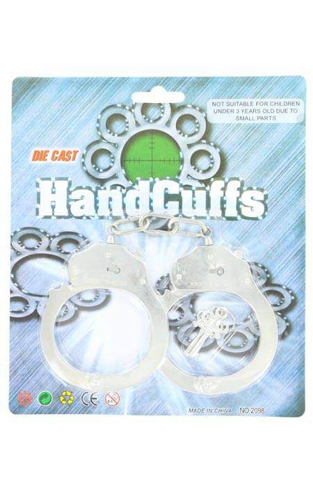 Silver Handcuffs With Key