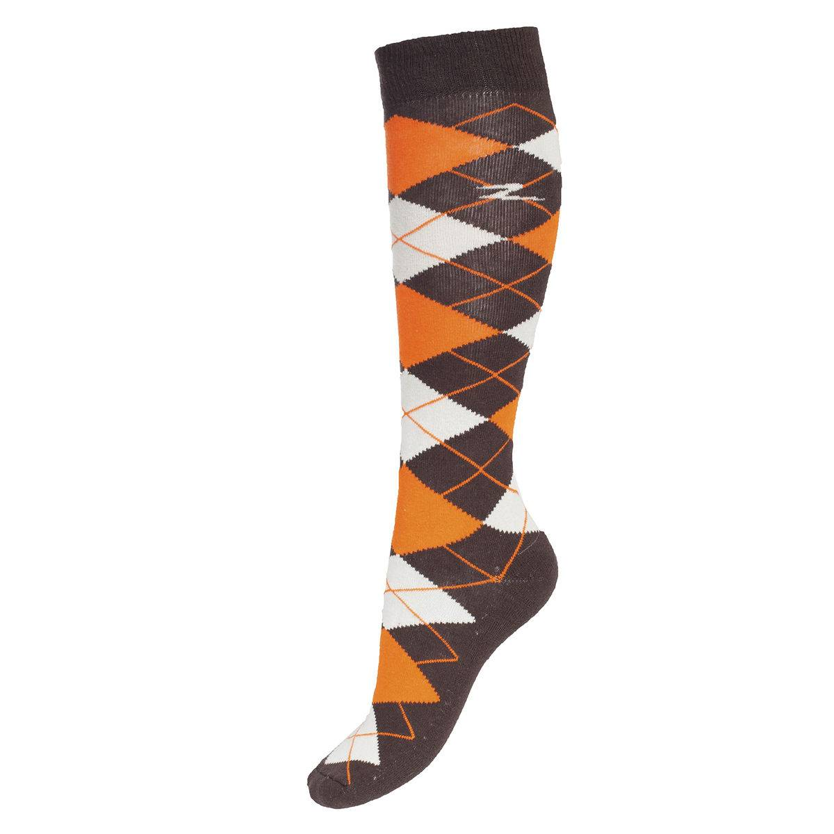 Horze Spirit Alana Argyle Checked Winter Knee Socks