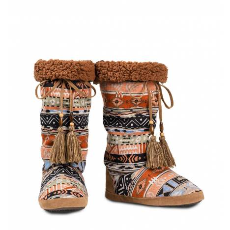 Blazin Roxx Ladies Tall Cloth Aztec Slipper With Front Tassel