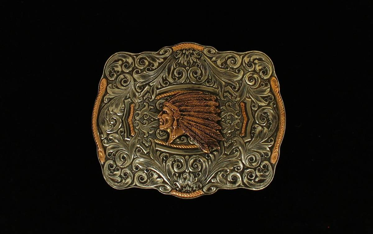 Crumrine Indian Head Boxed Buckle