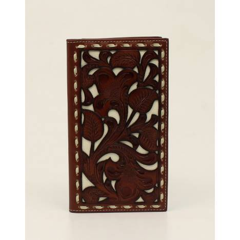 Nocona Rodeo Pierced Overlay Laced Wallet