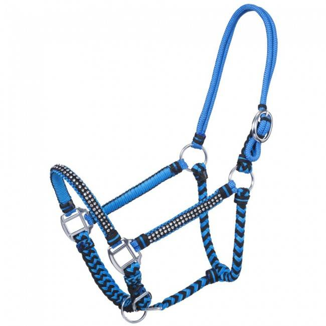 Tough 1 Mini Rope/Braid Halter with Stone