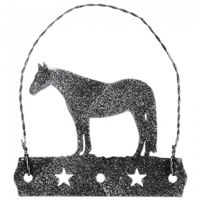 Tough 1 Equine Motif Glitter Finish Ornament - Quarter Horse