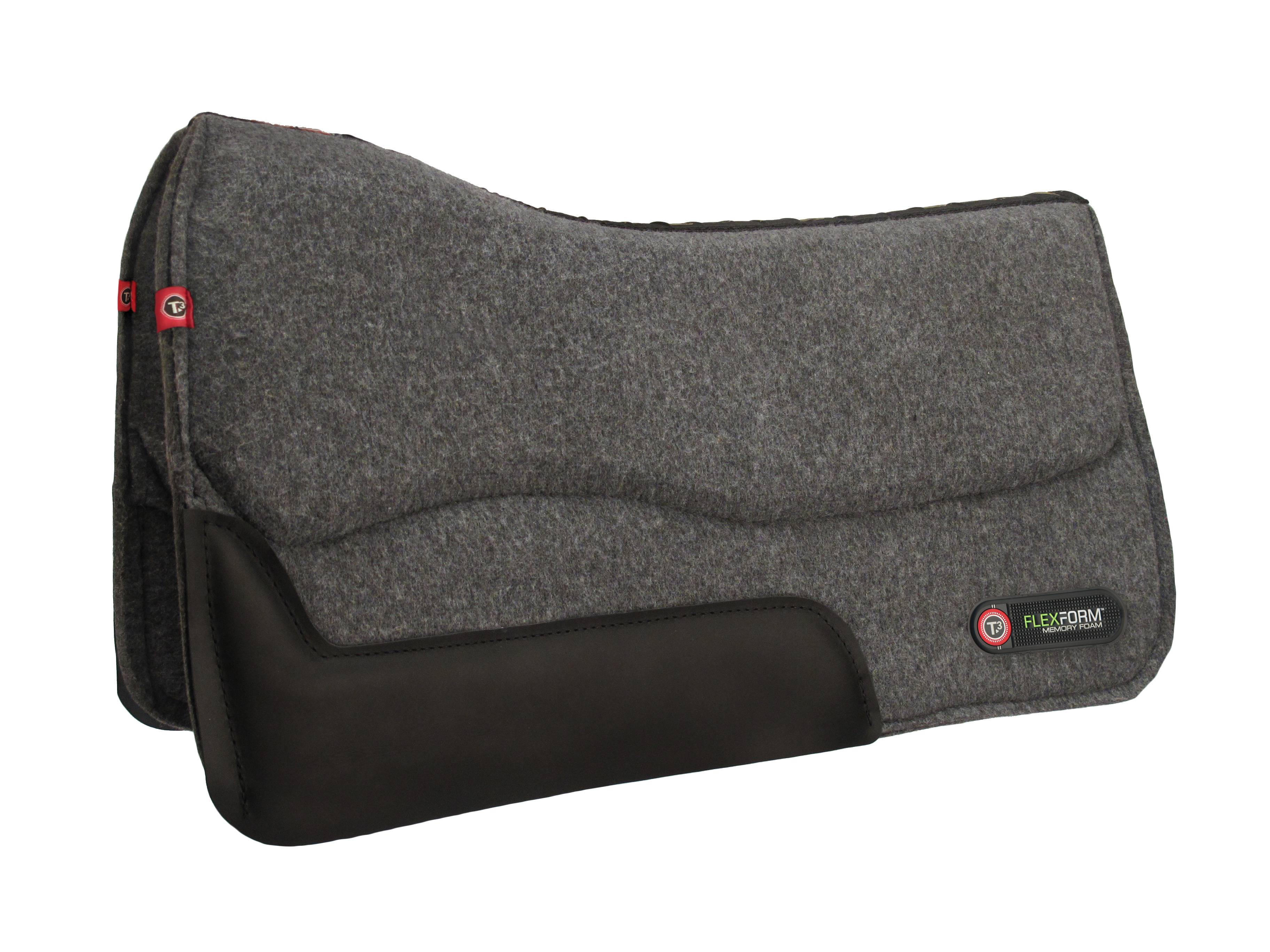 T3 Western Wool Felt Pad with Flex Form 3/4''