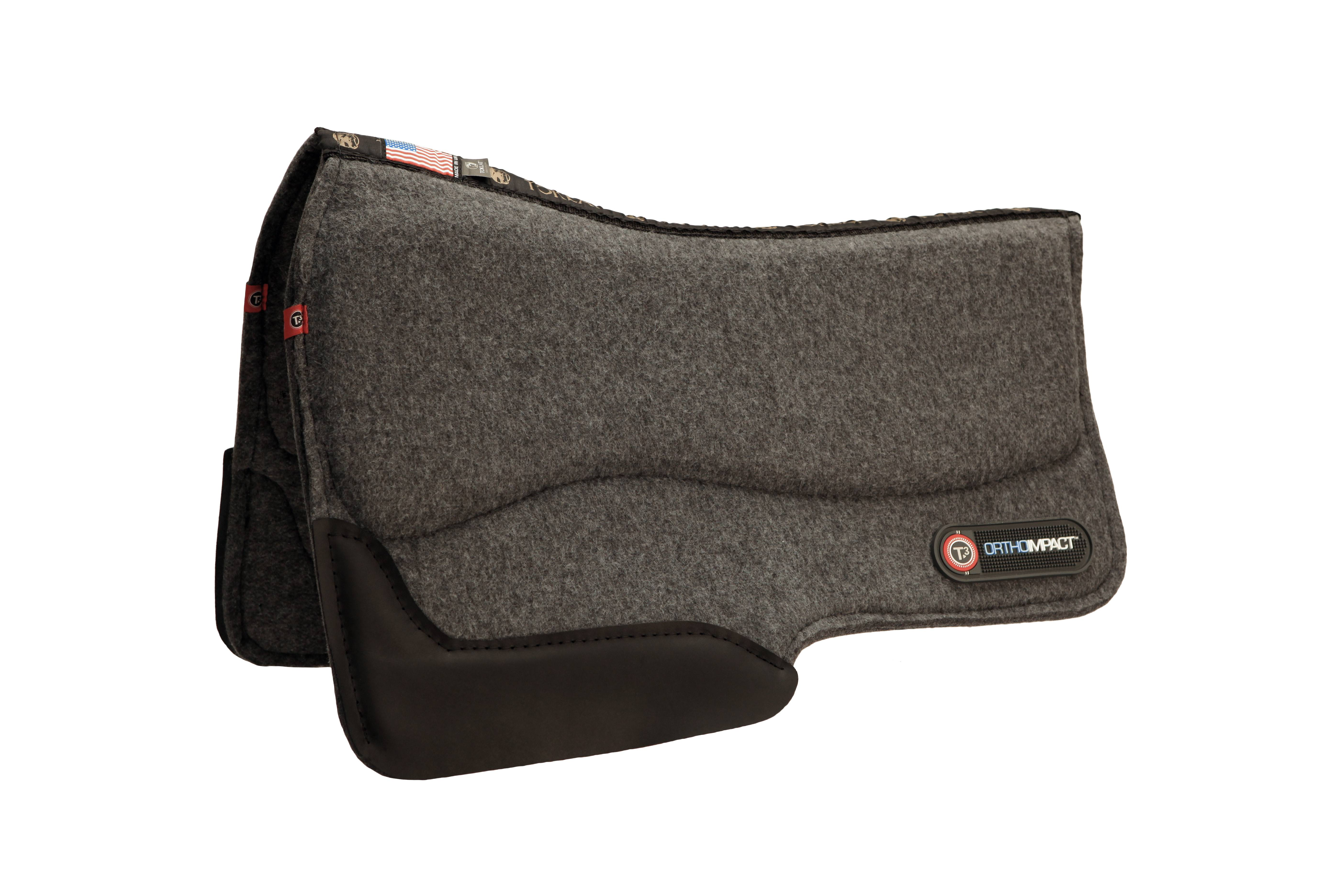 T3 Western Wool Felt Barrel Pad with Ortho-Impact 3/4''
