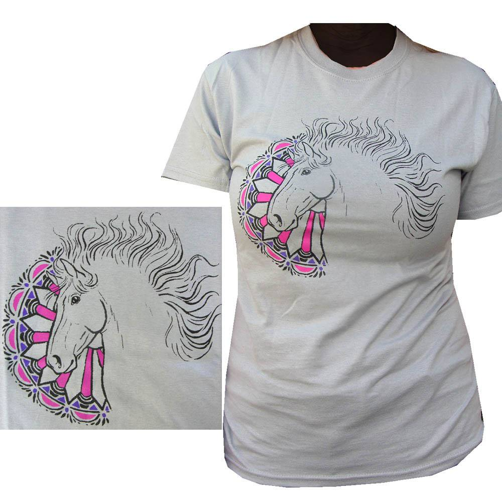 Sound Equine Carousel Horse Tee Shirt-Ladies