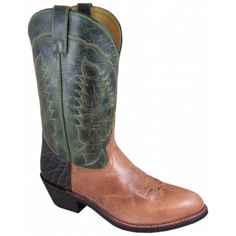 Smoky Mountain Mason Boots - Mens - Green - Tan - Brown