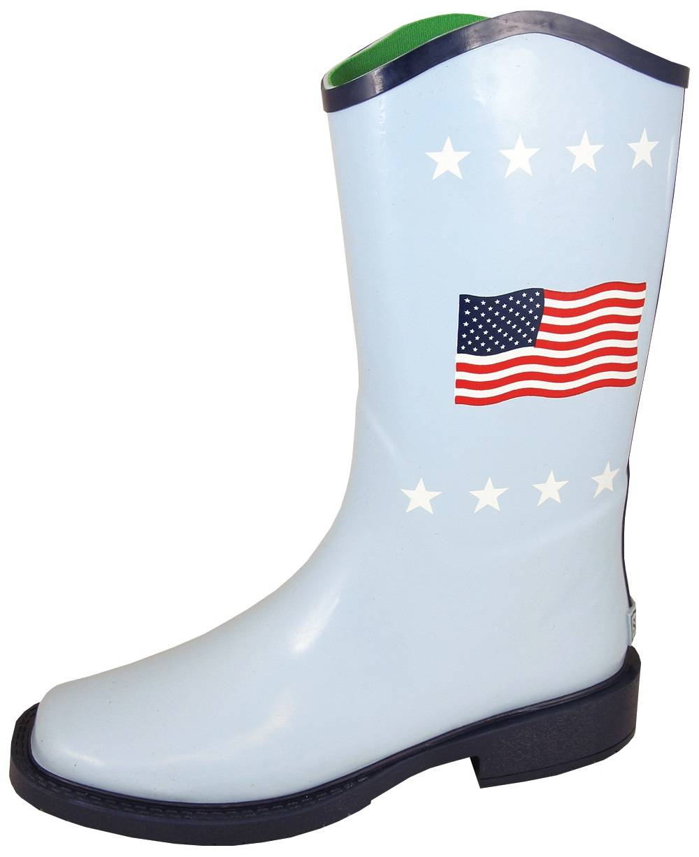 Smoky Mountain Flag Boots - Ladies - White