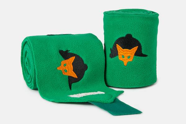 Lettia Embroidered Polo Wraps - Green Fox Mask