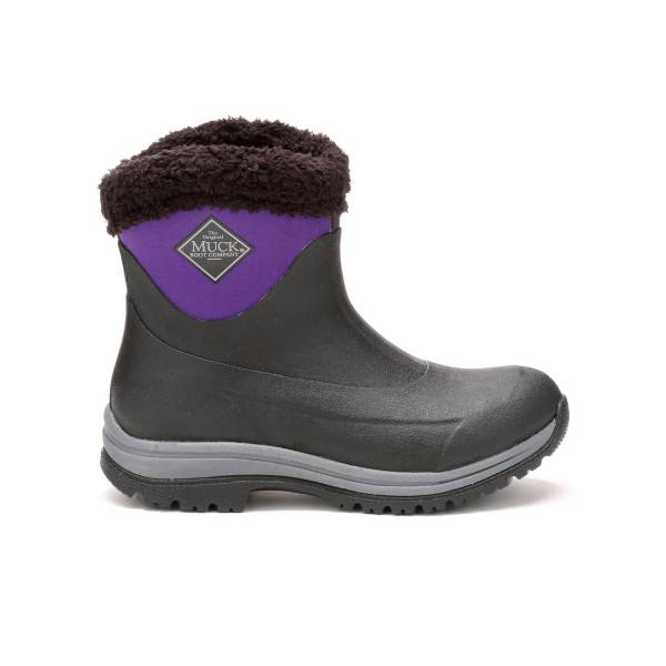 Muck Boots Arctic Apres Slip-On Boots - Ladies - Black Parachute Purple