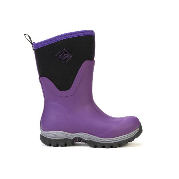 Muck Boots Arctic Sport II Mid Boots - Ladies - Black Parachute Purple
