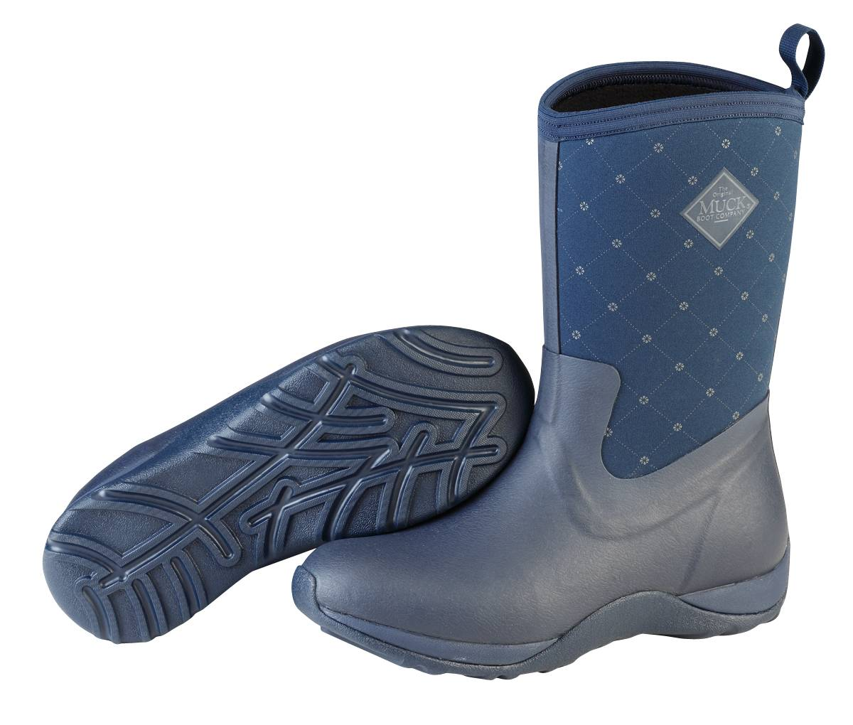 Muck Boots Arctic Weekend Mid-Height Boots - Ladies - Navy Quilt