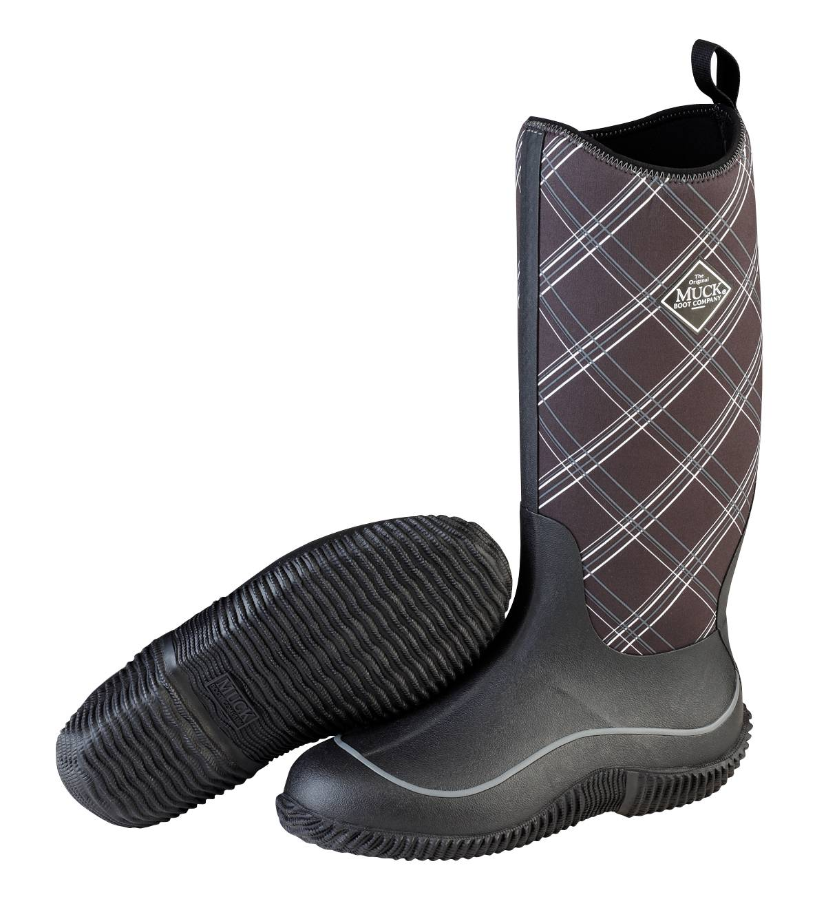 Muck Boots Hale Boot - Ladies - Black Gray Plaid
