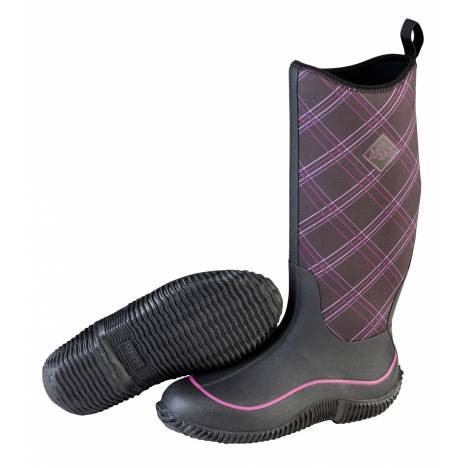 Muck Boots Hale Boot - Ladies - Black Purple Plaid