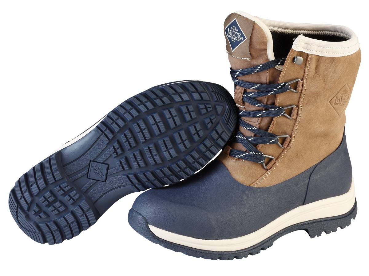 Muck Boots Arctic Apres Lace Mid Boot - Ladies - Otter Dark Navy
