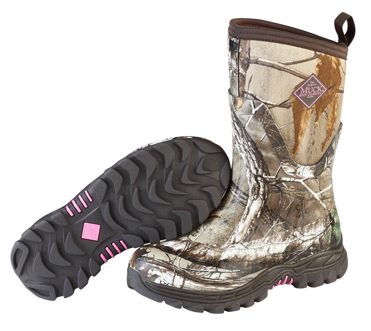 Muck Boots Arctic Hunter Mid Boots - Ladies Bark Realtree Xtra Pink