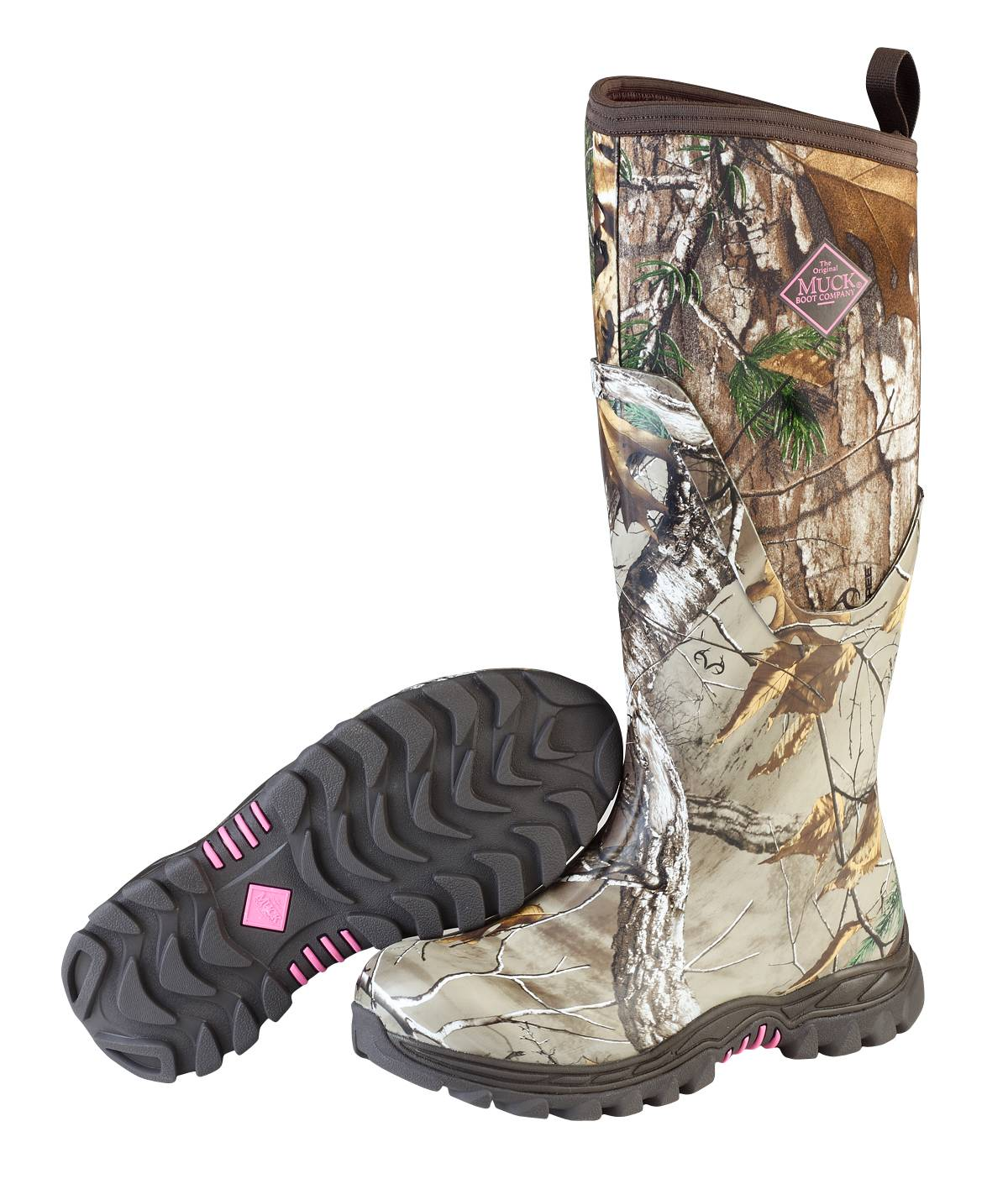 Muck Boots Arctic Hunter Tall Boots - Ladies Bark Realtree Xtra Pink