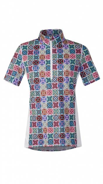 Kerrits Breeze Ice Fil Print Short Sleeve Shirt - Ladies - Crossrails