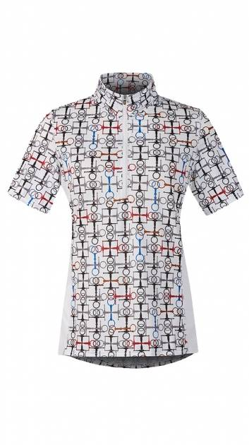 Kerrits Breeze Ice Fil Print Short Sleeve Shirt - Ladies - Snaffle Bits