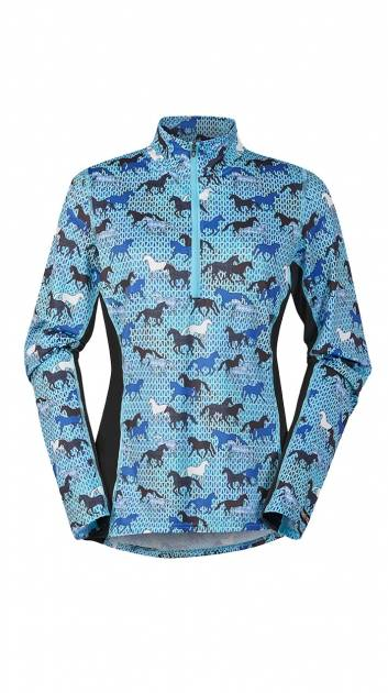Kerrits Breeze Ice Fil Print Long Sleeve Shirt - Ladies - Field of Horses