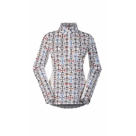 Kerrits Breeze Ice Fil Print Long Sleeve Shirt - Ladies - Snaffle Bits