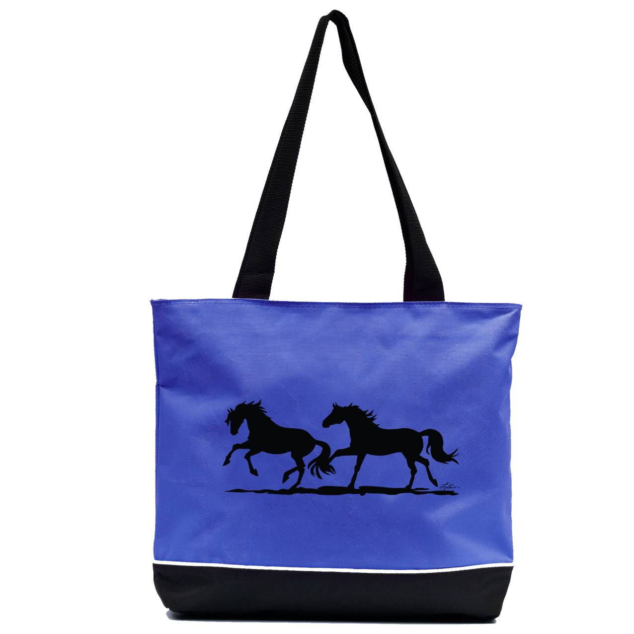 Lila Blakeslee Two Running Horses Tote Bag