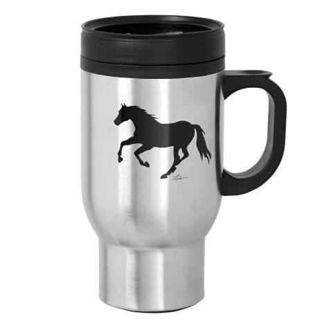 Lila Blakeslee Running Horse Stainless Steel Travel Mug