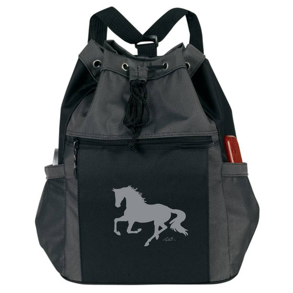 Lila Blakeslee Drawstring Horse Backpack