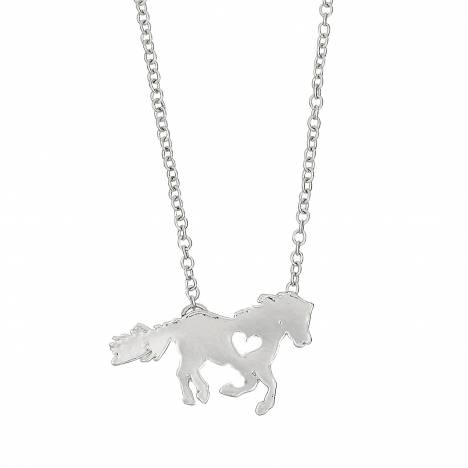 Pony Love Horse Heart Necklace