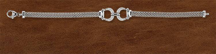 Kelly Herd Silver Bit Bracelet - Ladies
