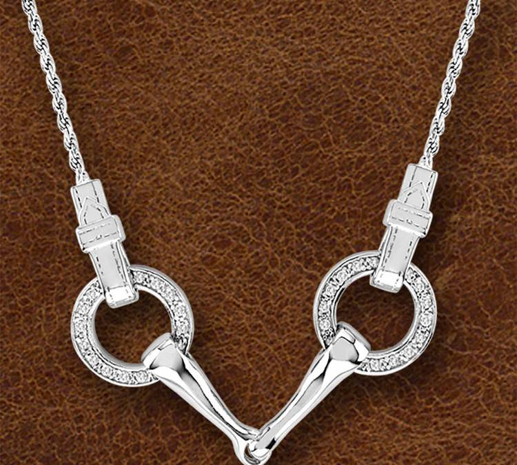 Kelly Herd Silver Snaffle Bit Necklace - Ladies