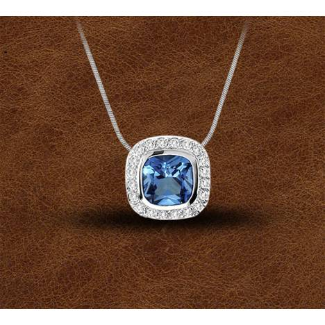 Kelly Herd Silver Contemporary Blue Pendant - Ladies