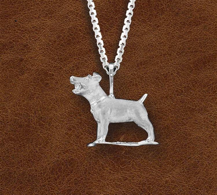 Kelly Herd Silver Jack Russell Necklace - Ladies