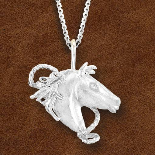 Kelly Herd Silver Horsehead Necklace - Ladies
