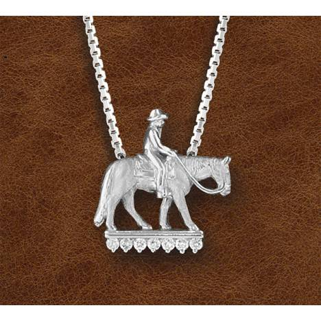 Kelly Herd Silver Western Pleasure Horse And Rider - Ladies