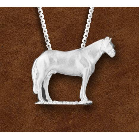 Kelly Herd Silver Halter Horse Pendant - Ladies