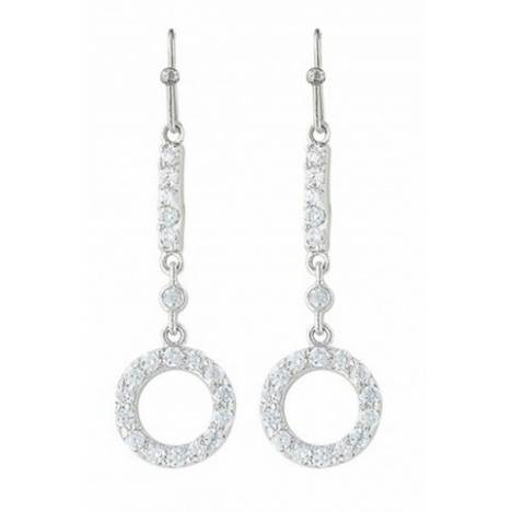 Montana Silversmiths Bar Circle Bar Brand Cubic Zirconia Earrings