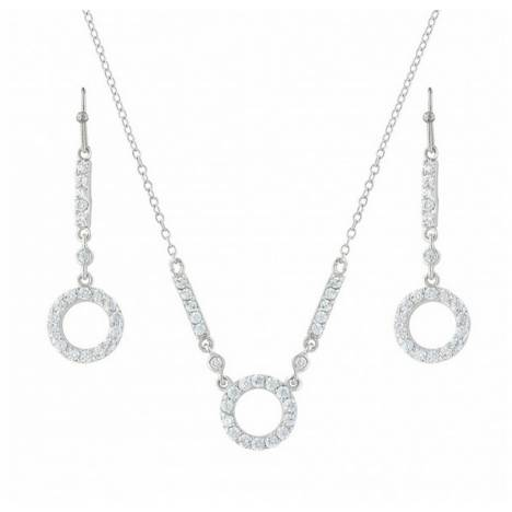 Montana Silversmiths Bar Circle Bar Brand Cubic Zirconia Jewelry Set