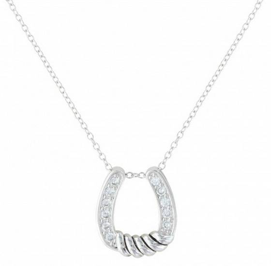 Montana Silversmiths Twisted Horseshoe Cubic Zirconia Necklace