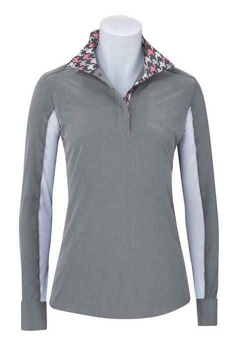 RJ Classics Paige Show Shirt - Ladies - Grey Houndstooth