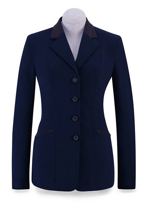 RJ Classics Victory Show Coat - Ladies - Navy/Brown