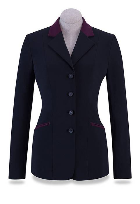 RJ Classics Victory Show Coat - Ladies - Black/Wine