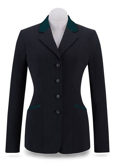 RJ Classics Victory Show Coat - Ladies - Black/Green