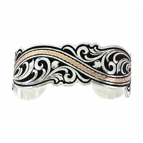 Montana Silversmiths River Of Rose Rope Filigree Scroll Cuff Bracelet
