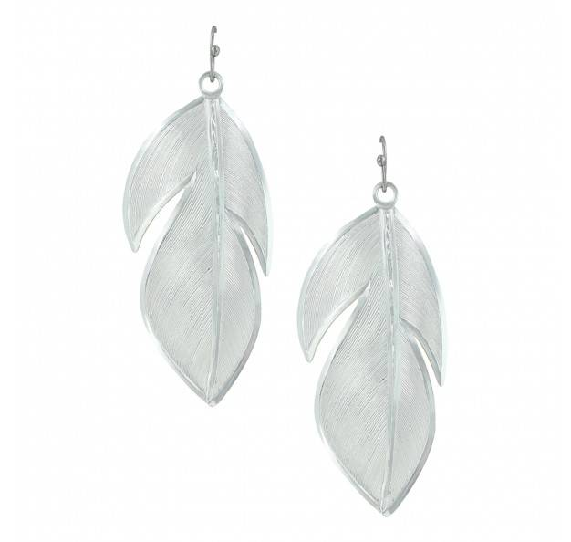Montana Silversmiths Wide Floating Feather Earrings