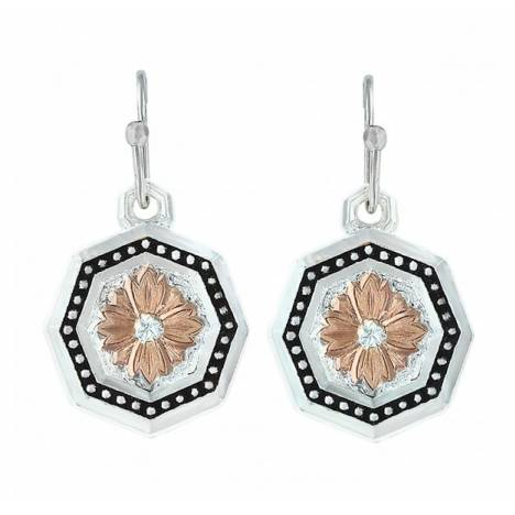 Montana Silversmiths Portrait Of The Prairie Daisy Octagon Pinpoint Earrings