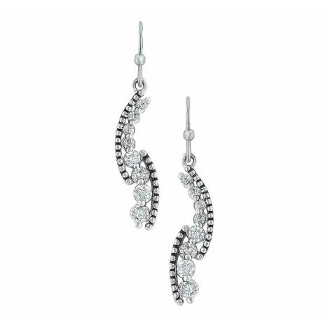 Montana Silversmiths Sparkling Rope And Cubic Zirconia Cascade Pathway Earrings